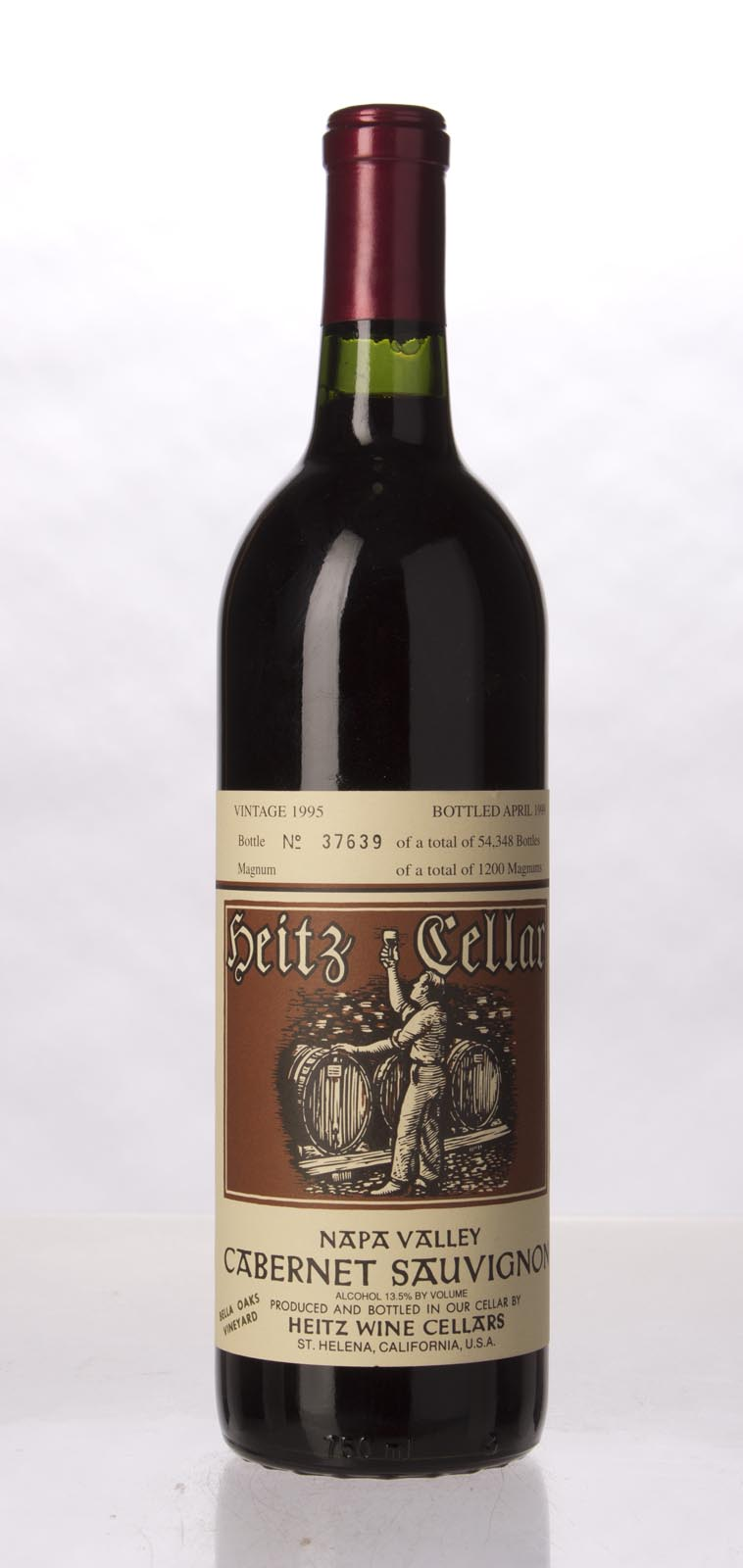 Heitz Cabernet Sauvignon Bella Oaks Vineyard 1995, 750mL () from The BPW - Merchants of rare and fine wines.