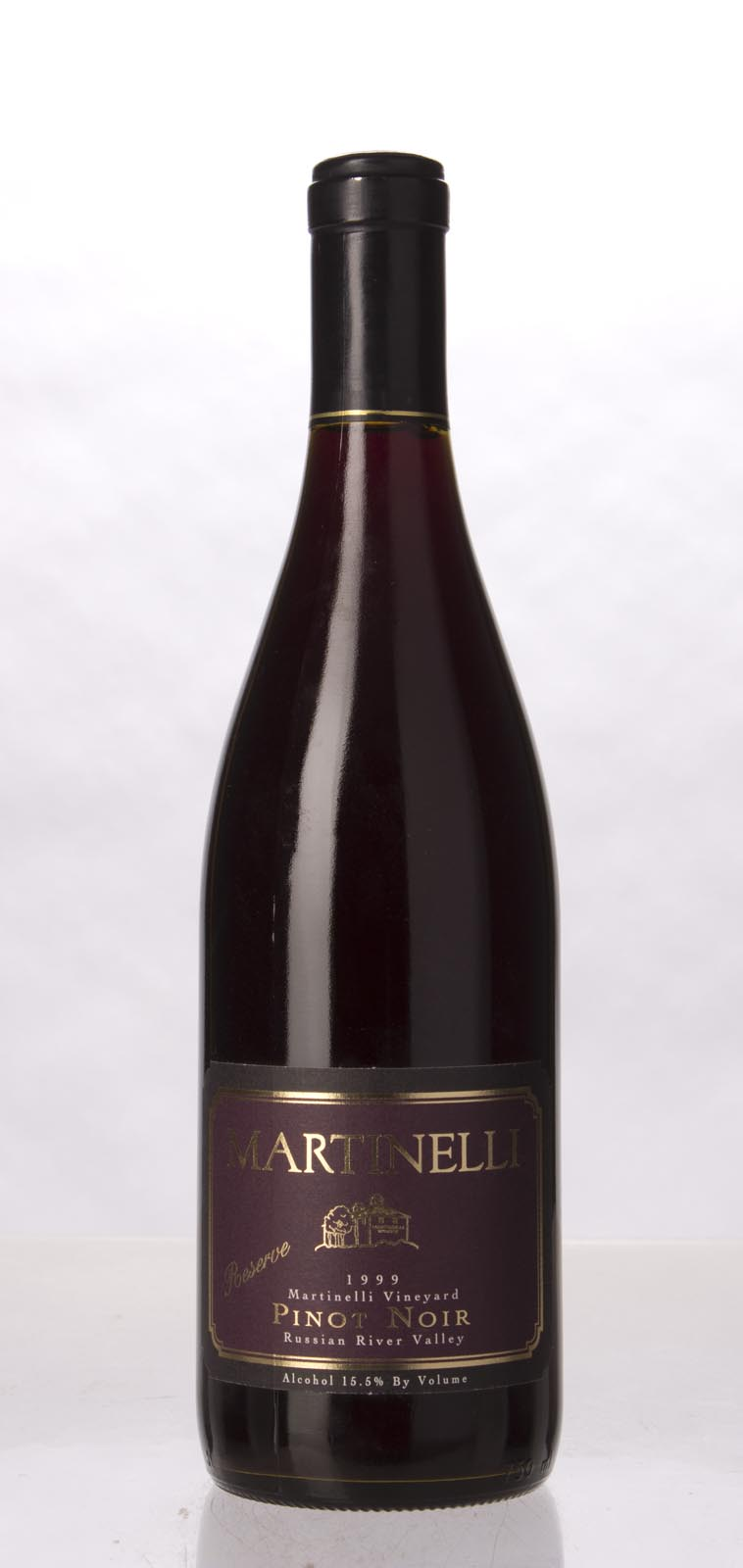 Martinelli Pinot Noir Martinelli Vineyard Reserve 1999, 750mL (WA93) from The BPW - Merchants of rare and fine wines.