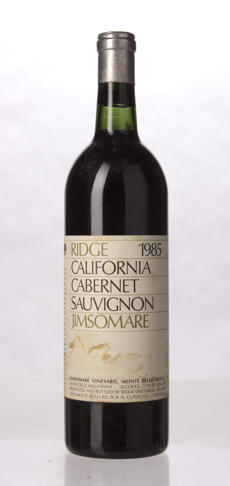 Ridge Cabernet Sauvignon Jimsomare 1985, 750mL () from The BPW - Merchants of rare and fine wines.