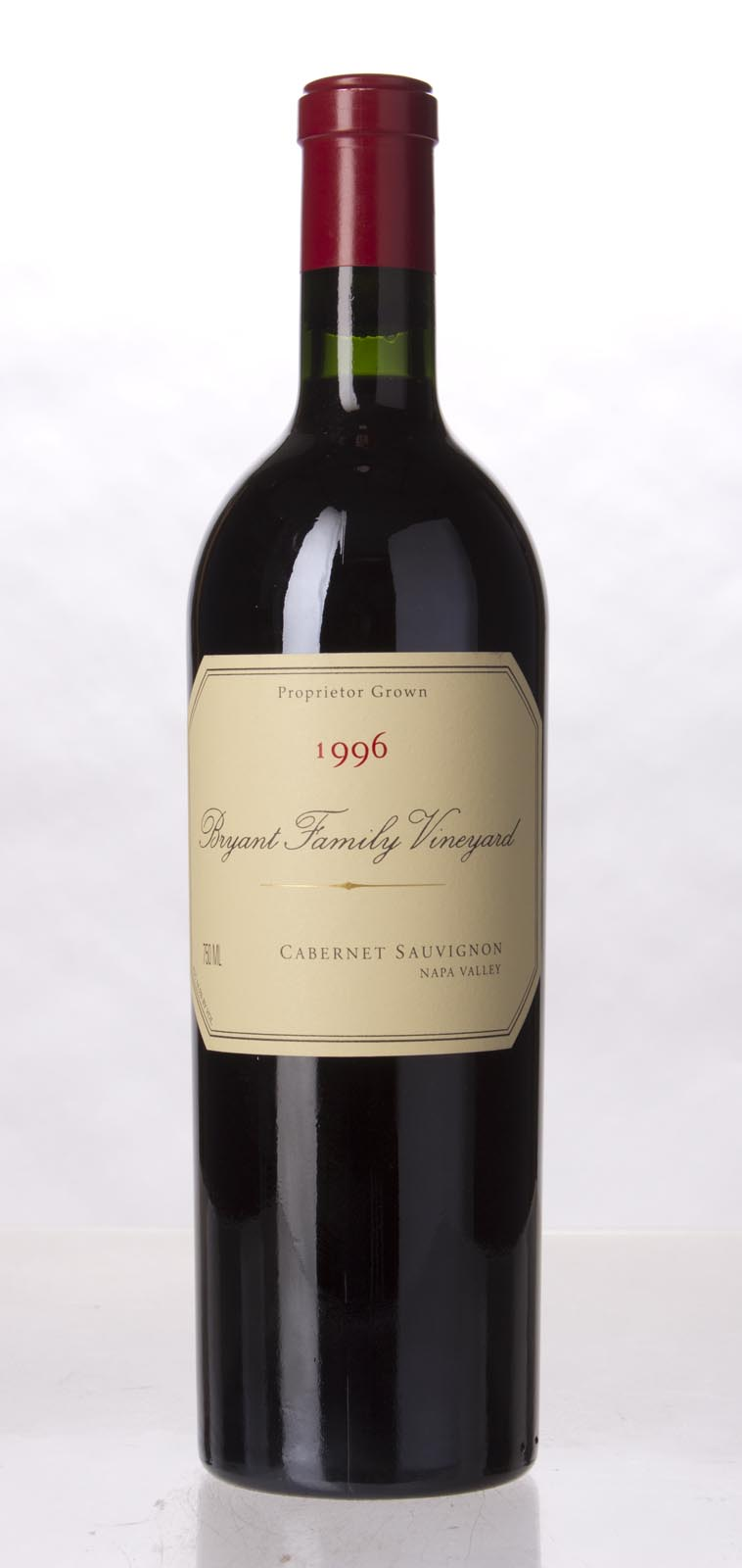 Bryant Family Vineyard Cabernet Sauvignon Pritchard Hill 1996, 750mL (WA99, WS100) from The BPW - Merchants of rare and fine wines.