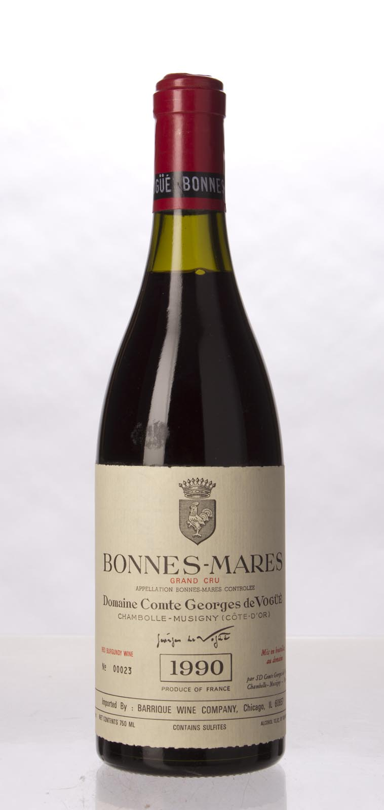 Comte de Vogue Bonnes Mares 1990, 750mL (WS99) from The BPW - Merchants of rare and fine wines.