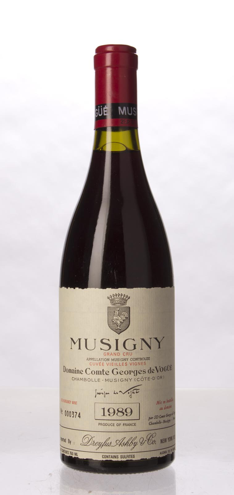 Comte de Vogue Musigny Vieilles Vignes 1989, 750mL (WS96) from The BPW - Merchants of rare and fine wines.