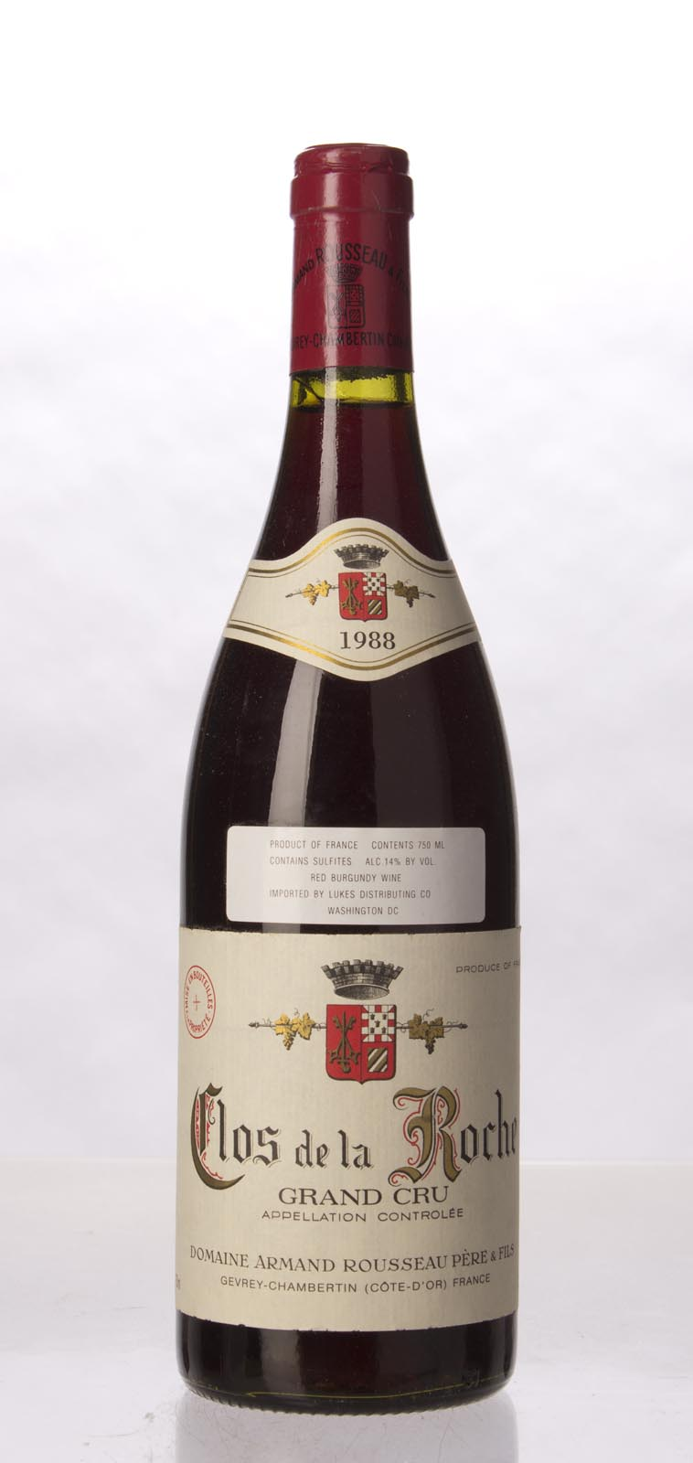 Domaine Armand Rousseau Clos de la Roche 1988, 750mL (WS91) from The BPW - Merchants of rare and fine wines.