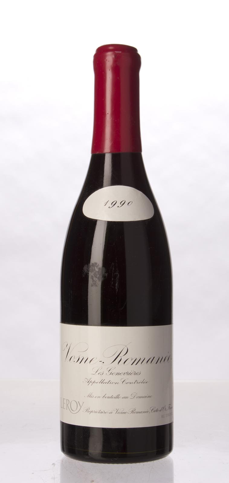 Leroy Vosne Romanee les Genevrieres 1990, 750mL (WS95) from The BPW - Merchants of rare and fine wines.