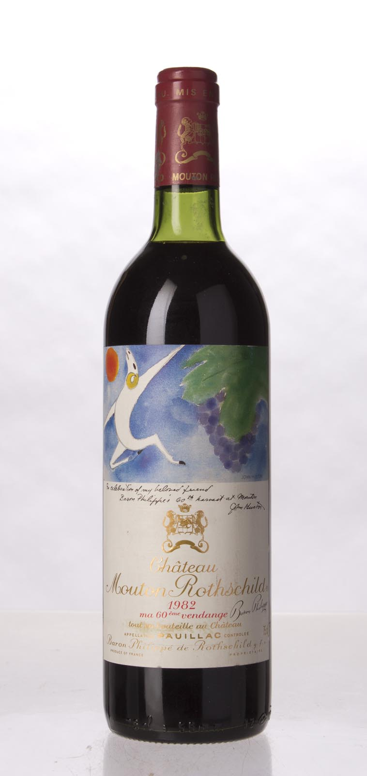 Mouton Rothschild 1982, 750mL (WA100, ST98, WS100) from The BPW - Merchants of rare and fine wines.