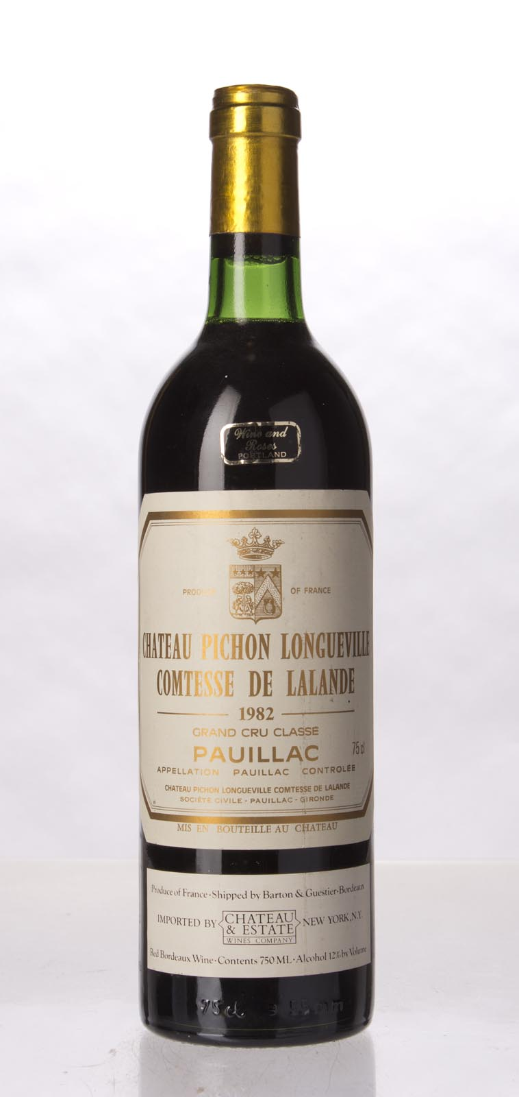 Pichon Longueville Comtesse de Lalande 1982, 750mL (WA100) from The BPW - Merchants of rare and fine wines.