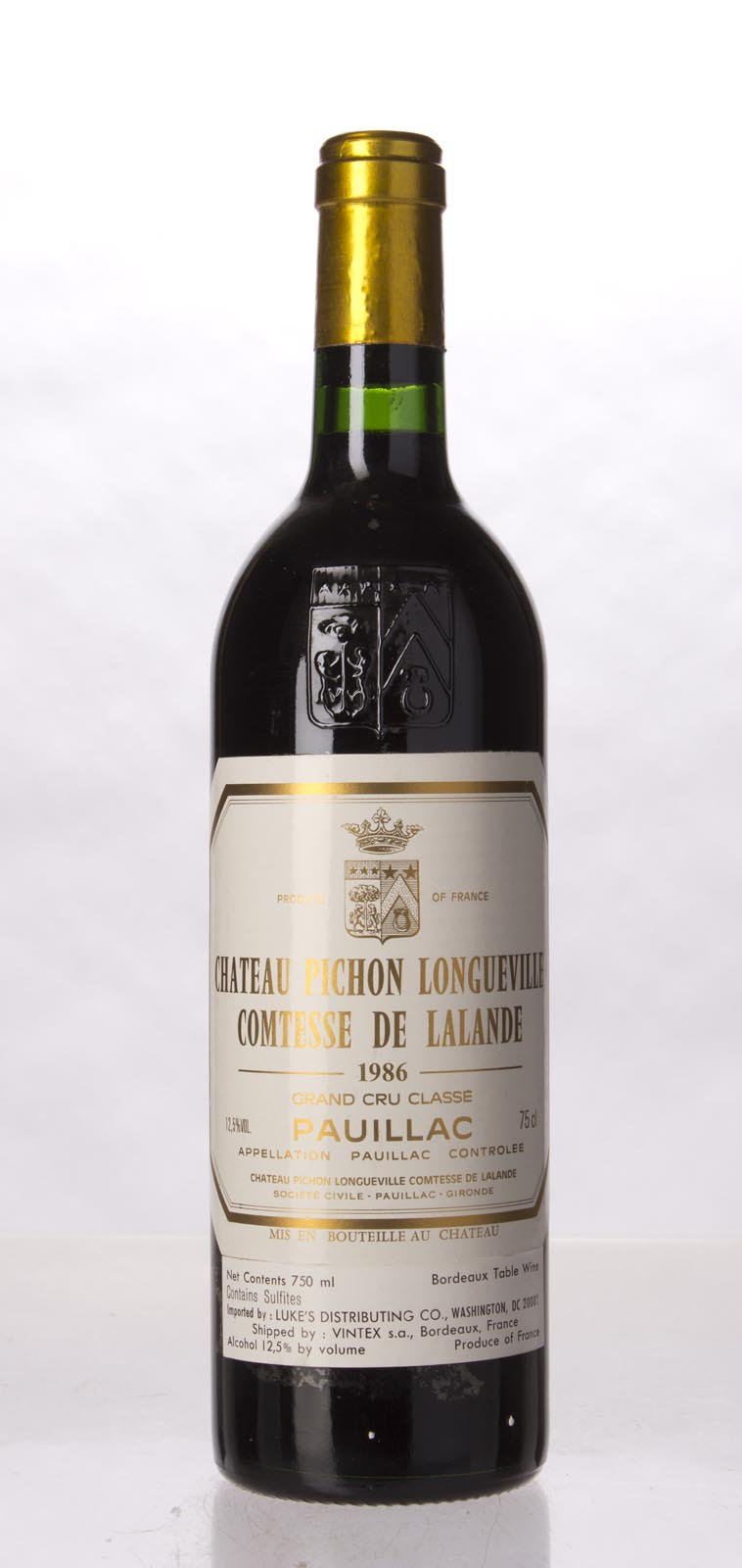 Pichon Longueville Comtesse de Lalande 1986, 750mL (WA96, WS97) from The BPW - Merchants of rare and fine wines.