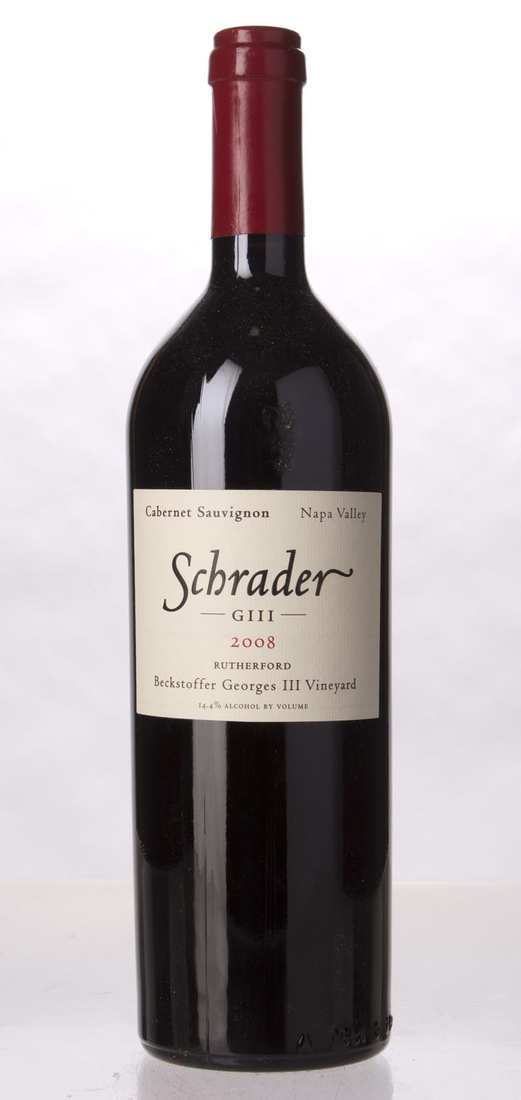 Schrader Cellars Cabernet Sauvignon Beckstoffer George III Vineyard 2008,  (WA97, WS97) from The BPW - Merchants of rare and fine wines.