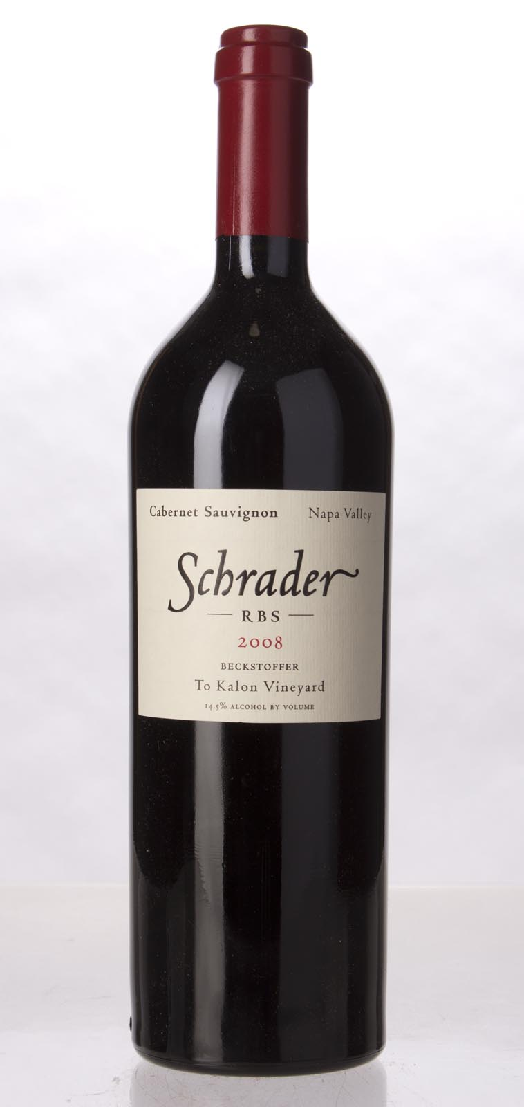 Schrader Cellars Cabernet Sauvignon Beckstoffer To Kalon Vineyard RBS 2008, 750mL (WA97, WS97) from The BPW - Merchants of rare and fine wines.