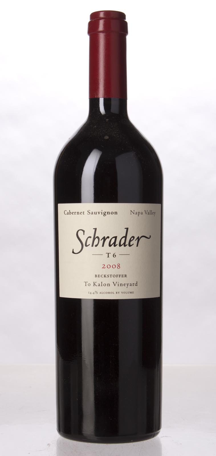 Schrader Cellars Cabernet Sauvignon Beckstoffer To Kalon Vineyard T6 2008, 750mL (WA99) from The BPW - Merchants of rare and fine wines.