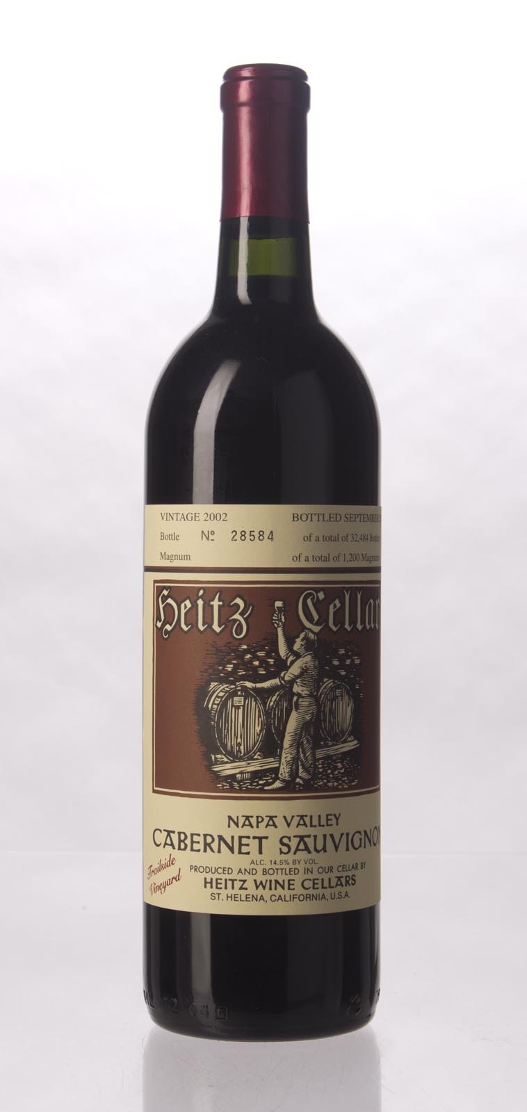 Heitz Cabernet Sauvignon Trailside Vineyard 2002, 750mL () from The BPW - Merchants of rare and fine wines.