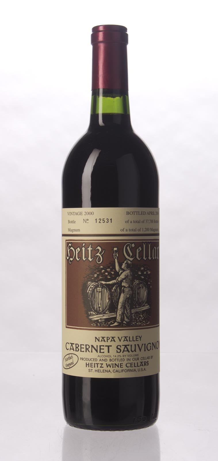 Heitz Cabernet Sauvignon Martha`s Vineyard 2000, 750mL () from The BPW - Merchants of rare and fine wines.
