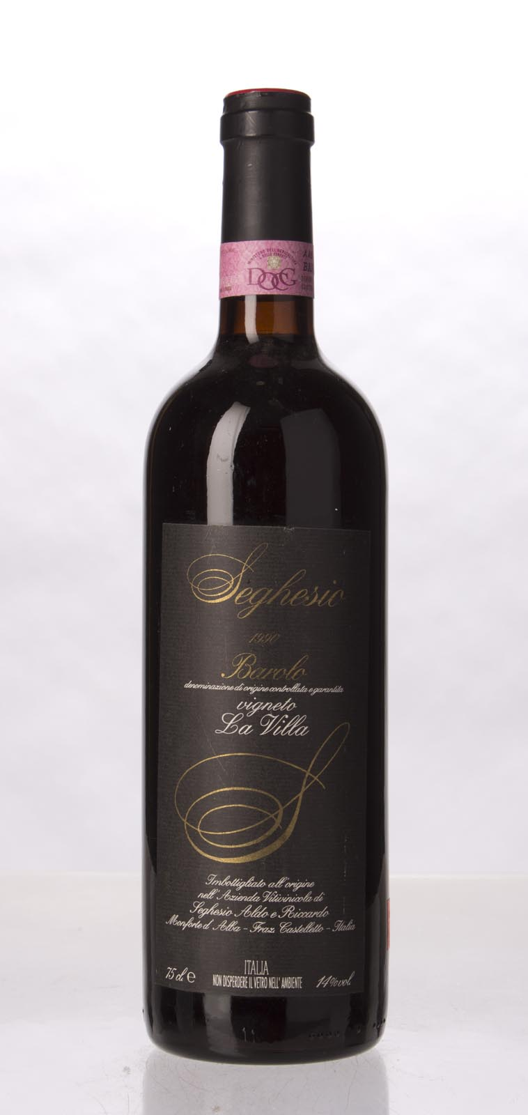 A. & R. Seghesio Barolo Vigneto la Villa 1990, 750mL (WA90) from The BPW - Merchants of rare and fine wines.