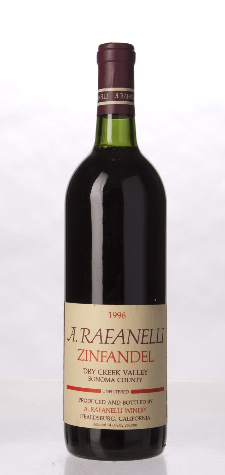 A. Rafanelli Zinfandel Unfiltered 1996, 750mL () from The BPW - Merchants of rare and fine wines.