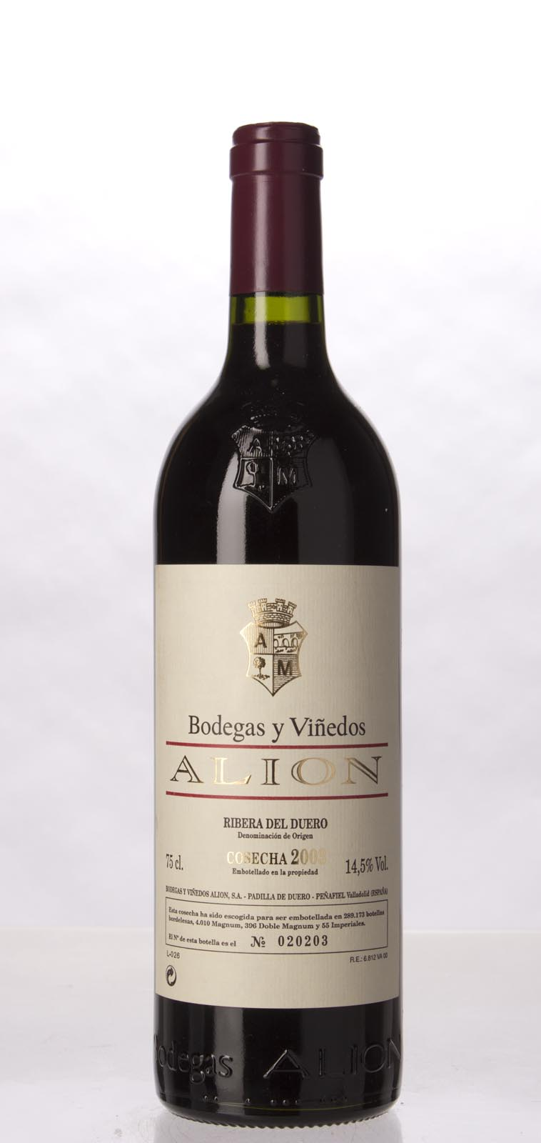 Alion Ribera del Duero `Alion` 2003, 750mL (WA96) from The BPW - Merchants of rare and fine wines.