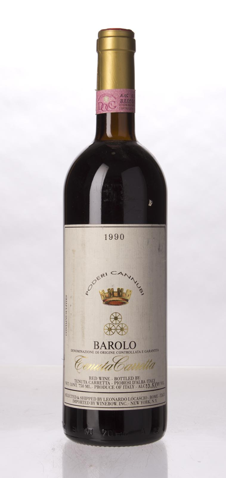Carretta Barolo Cannubi 1990, 750mL (WA92) from The BPW - Merchants of rare and fine wines.