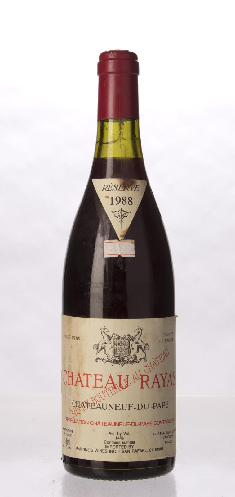 Chateau Rayas Chateauneuf du Pape 1988, 750mL (WA92) from The BPW - Merchants of rare and fine wines.