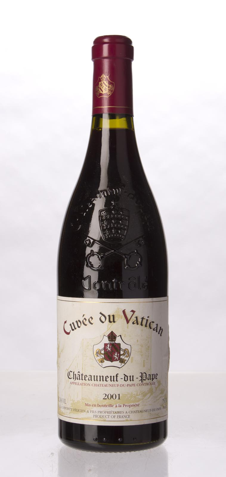 Cuvee du Vatican Chateauneuf du Pape 2001, 750mL (WA91, WS92) from The BPW - Merchants of rare and fine wines.