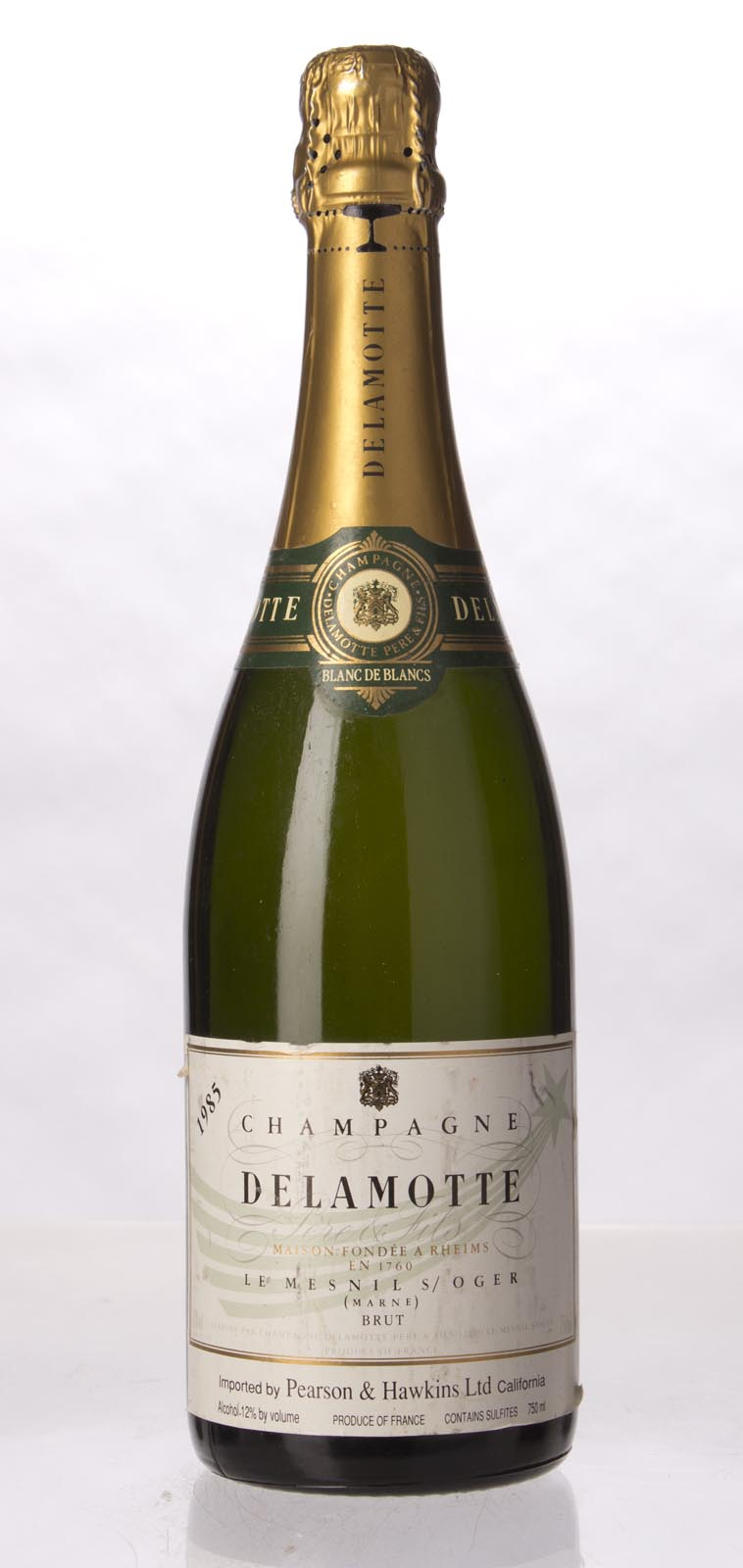 Delamotte Blanc de Blancs 1985, 750mL (WA90, WS91) from The BPW - Merchants of rare and fine wines.