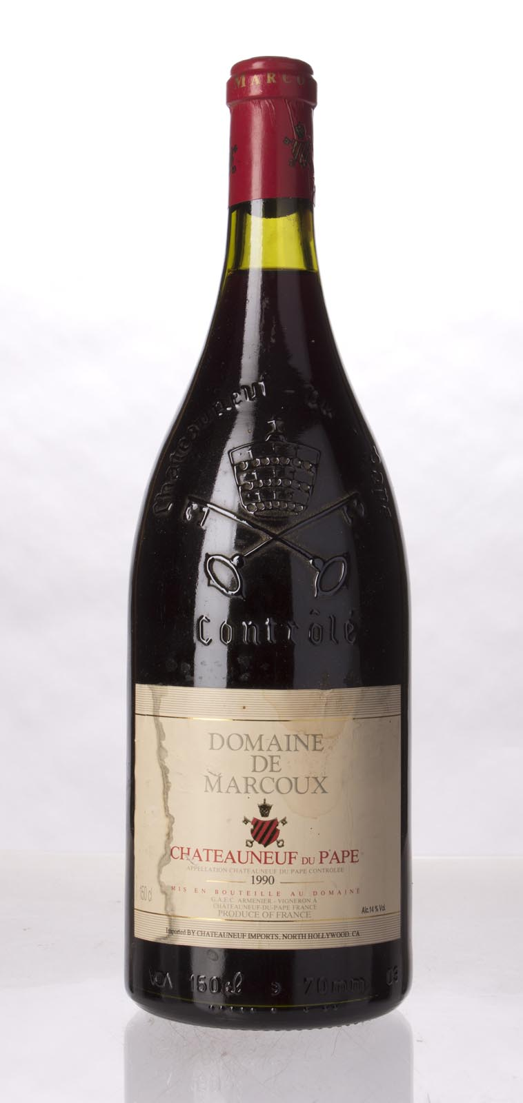 Domaine de Marcoux Chateauneuf du Pape 1990, 1.5L (WA90) from The BPW - Merchants of rare and fine wines.