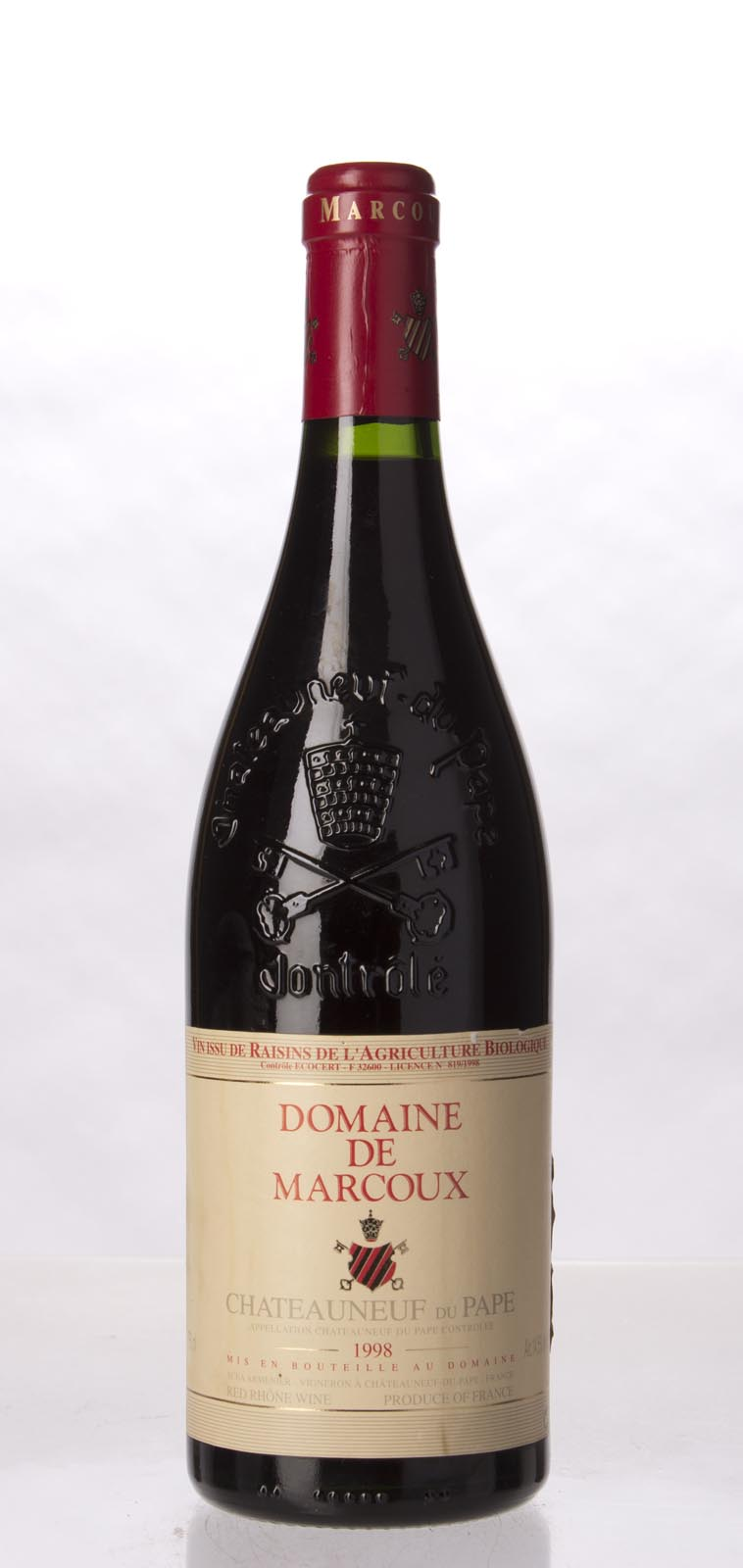 Domaine de Marcoux Chateauneuf du Pape 1998, 750mL (WA90, ST91) from The BPW - Merchants of rare and fine wines.
