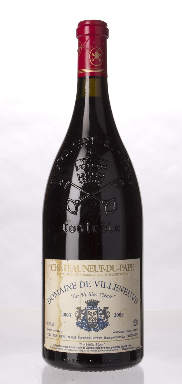 Domaine de Villeneuve Chateauneuf du Pape Vieilles Vignes 2003, 1.5L (WA91) from The BPW - Merchants of rare and fine wines.