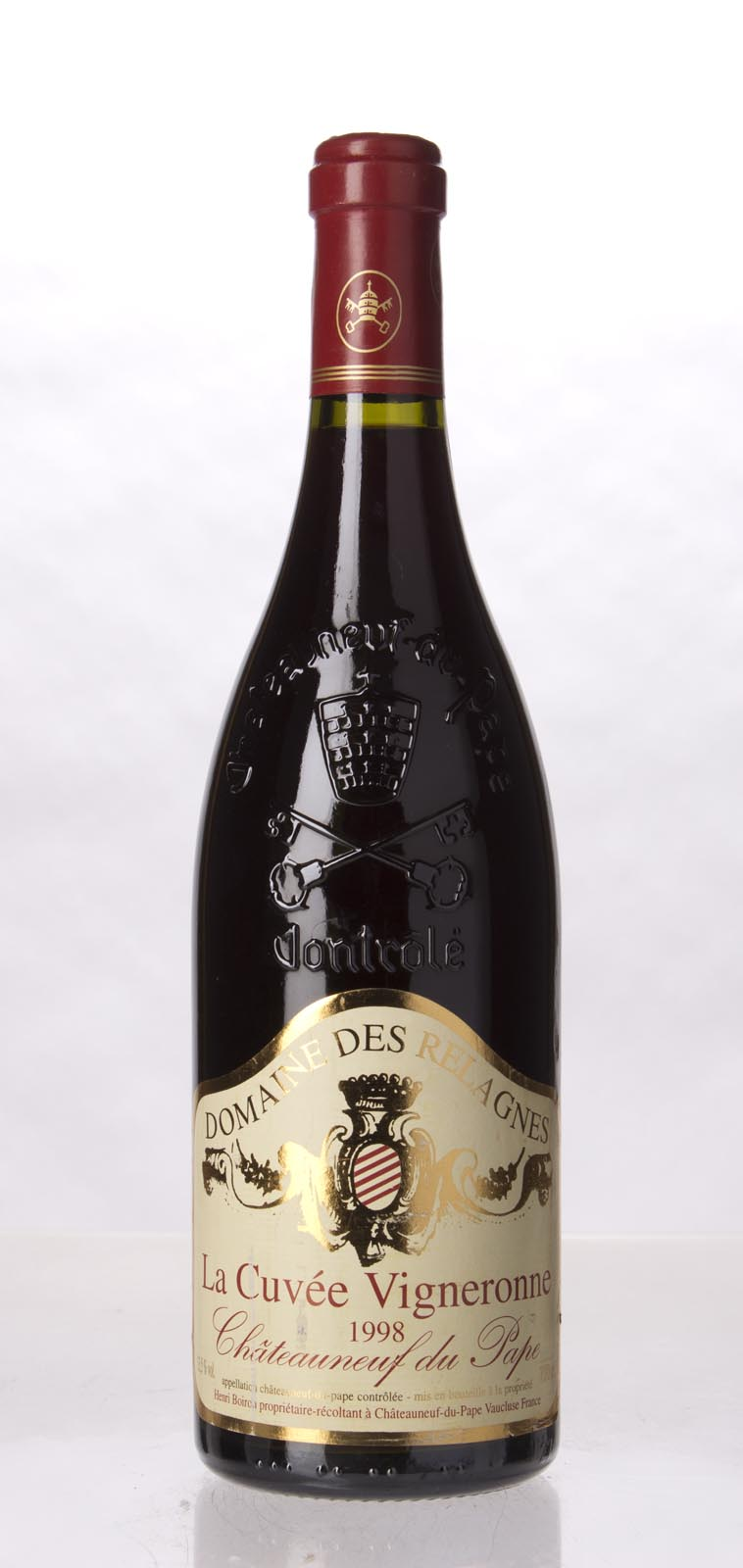 Domaine des Relagnes Chateauneuf du Pape Cuvee Vigneronne 1998, 750mL (WA90) from The BPW - Merchants of rare and fine wines.