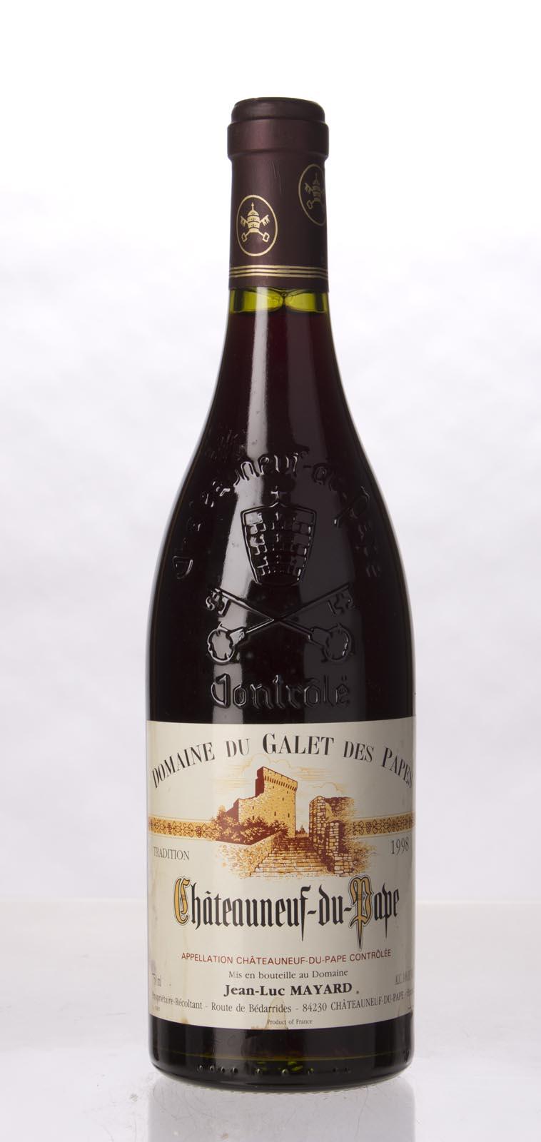 Domaine du Galets des Papes Chateauneuf du Pape 1998, 750mL (WA88) from The BPW - Merchants of rare and fine wines.