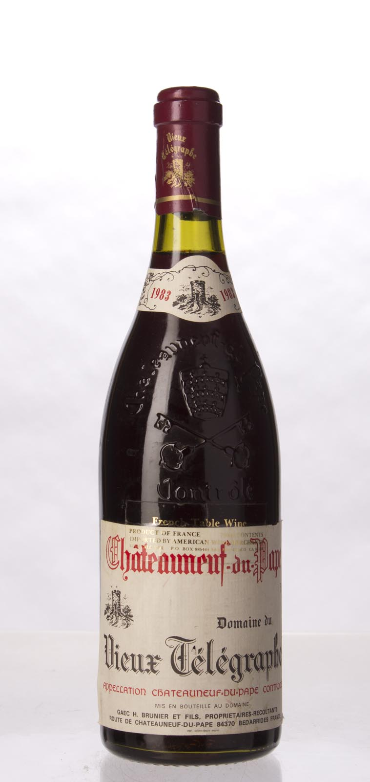 Domaine du Vieux Telegraphe Chateauneuf du Pape 1983, 750mL (WA90) from The BPW - Merchants of rare and fine wines.