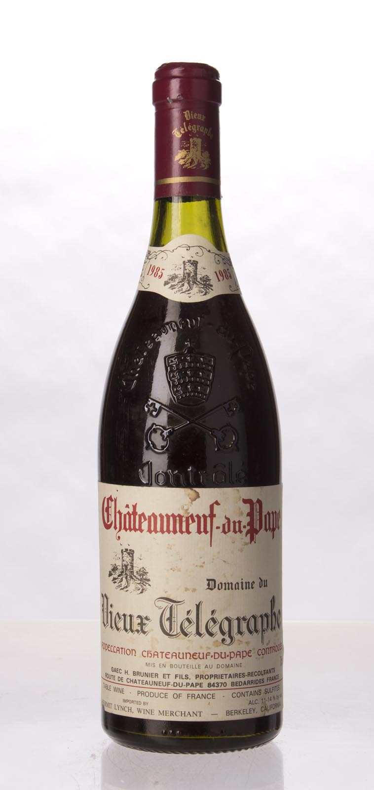 Domaine du Vieux Telegraphe Chateauneuf du Pape 1985, 750mL (WA88) from The BPW - Merchants of rare and fine wines.