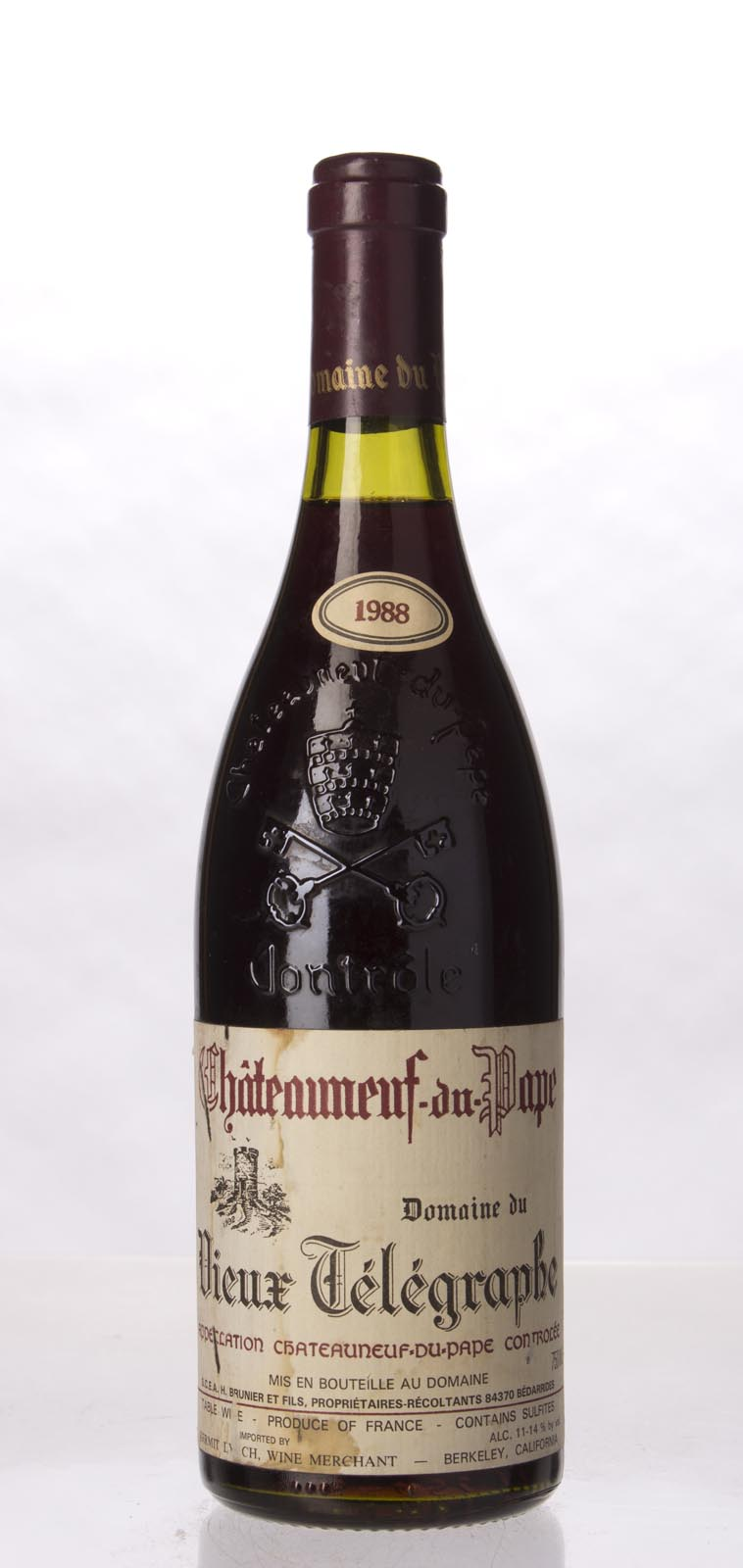 Domaine du Vieux Telegraphe Chateauneuf du Pape 1988, 750mL () from The BPW - Merchants of rare and fine wines.