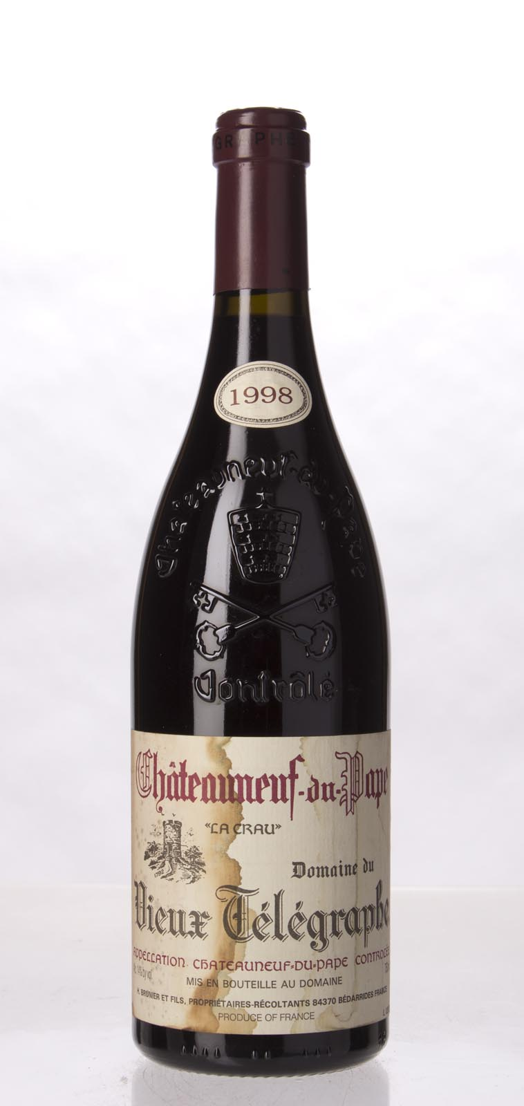 Domaine du Vieux Telegraphe Chateauneuf du Pape 1998, 750mL (WA95, WS94) from The BPW - Merchants of rare and fine wines.