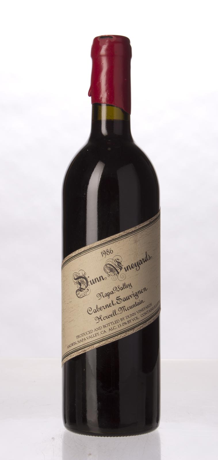 Dunn Cabernet Sauvignon Howell Mountain 1986, 750mL (WA95, WS96) from The BPW - Merchants of rare and fine wines.
