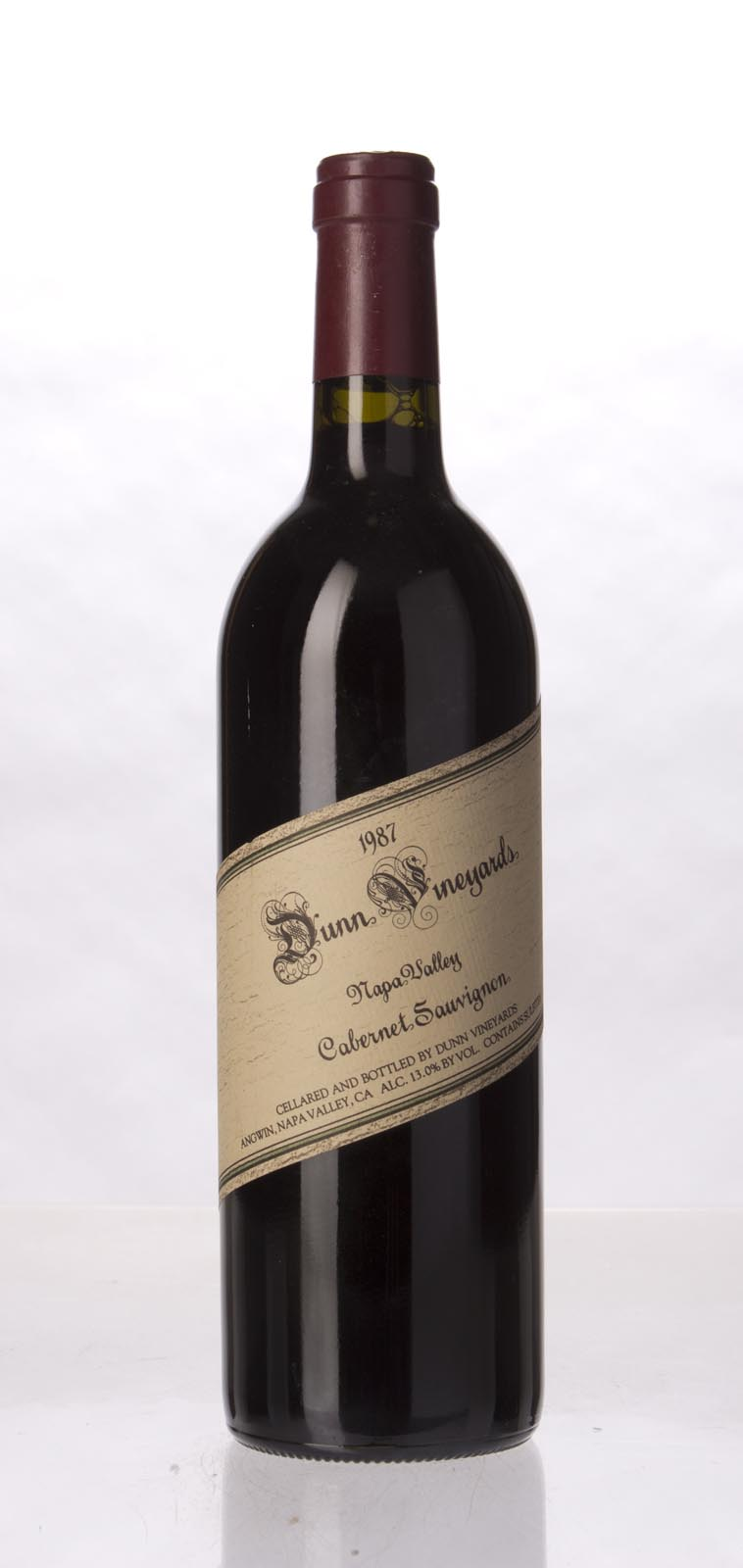 Dunn Cabernet Sauvignon Napa Valley 1987, 750mL (WS95) from The BPW - Merchants of rare and fine wines.