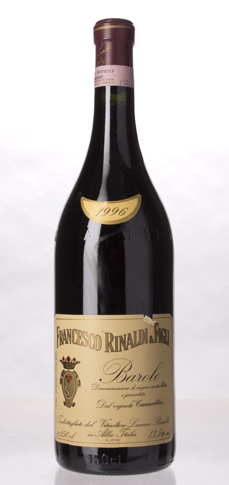 Francesco Rinaldi Barolo Cannubbio 1996, 1.5L () from The BPW - Merchants of rare and fine wines.