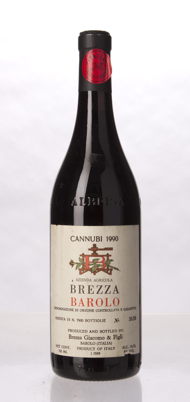 Giacomo Brezza e Figli Barolo Cannubi 1990, 750mL () from The BPW - Merchants of rare and fine wines.