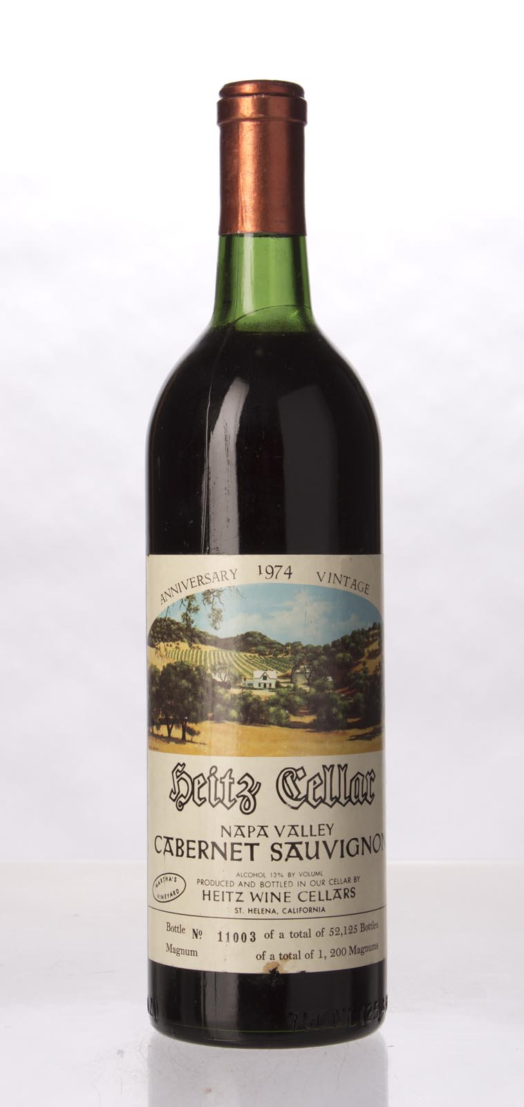 Heitz Cabernet Sauvignon Martha`s Vineyard 1974, 750ml (WA98, WS97) from The BPW - Merchants of rare and fine wines.