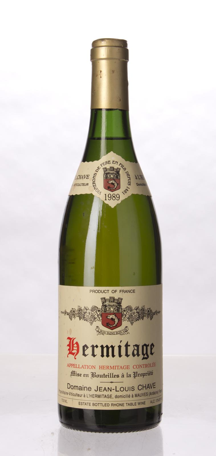 J.L. Chave Hermitage Blanc 1989, 750mL (WA92) from The BPW - Merchants of rare and fine wines.