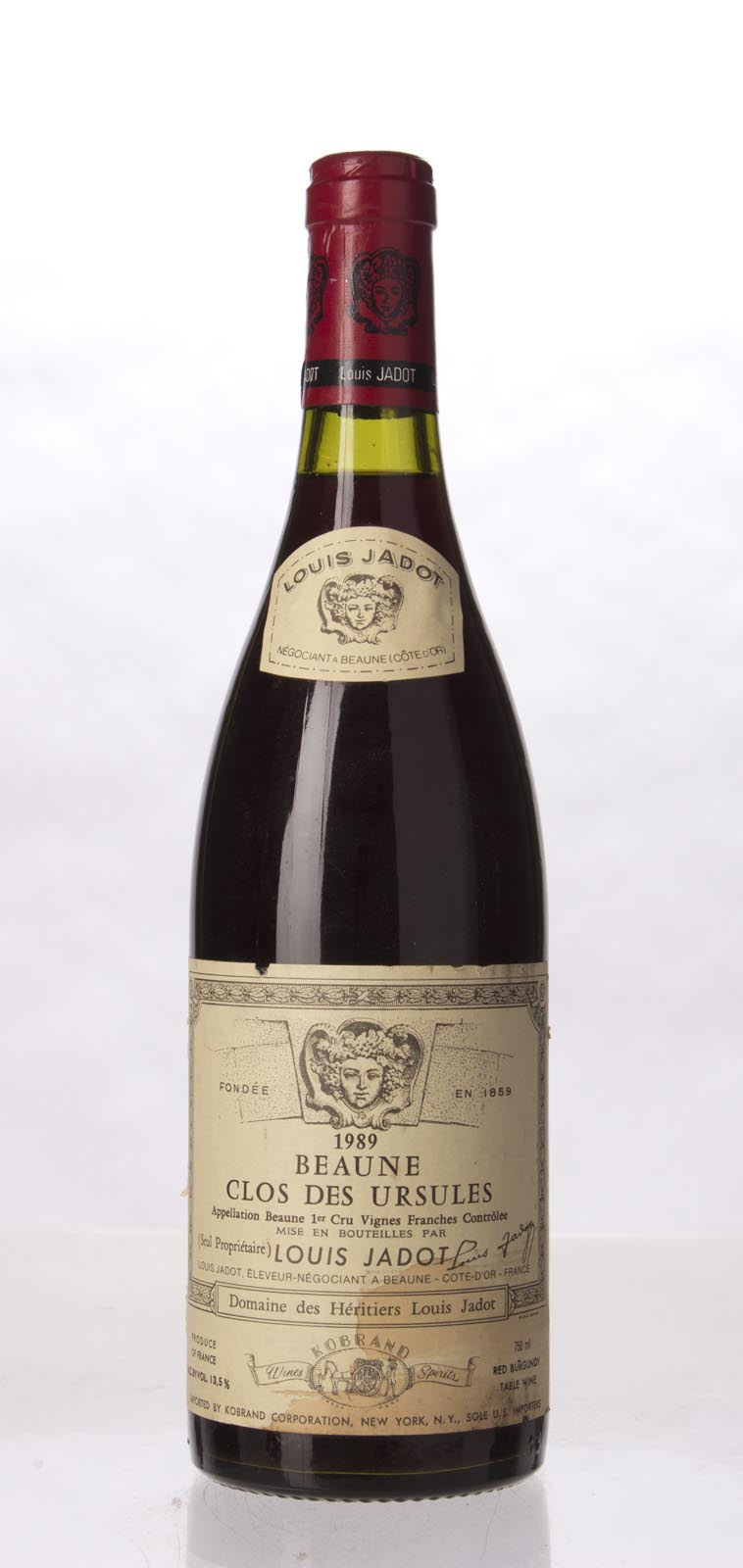 Louis Jadot Beaune Clos des Ursules 1989, 750mL (WS91) from The BPW - Merchants of rare and fine wines.