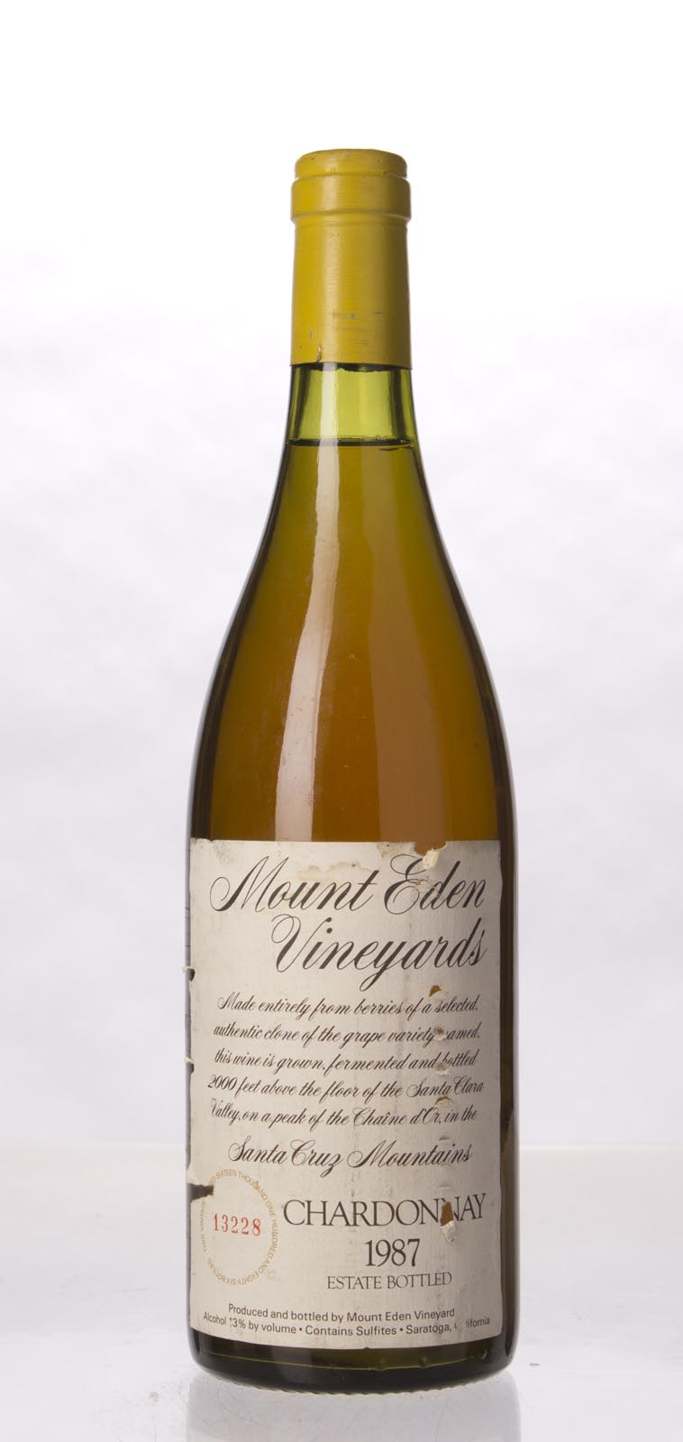 Mount Eden Chardonnay Estate 1987, 750mL () from The BPW - Merchants of rare and fine wines.