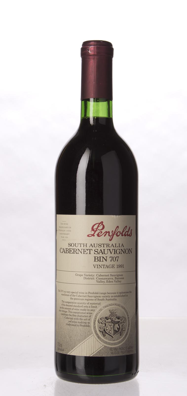 Penfolds Cabernet Sauvignon Bin 707 1991, 750mL () from The BPW - Merchants of rare and fine wines.