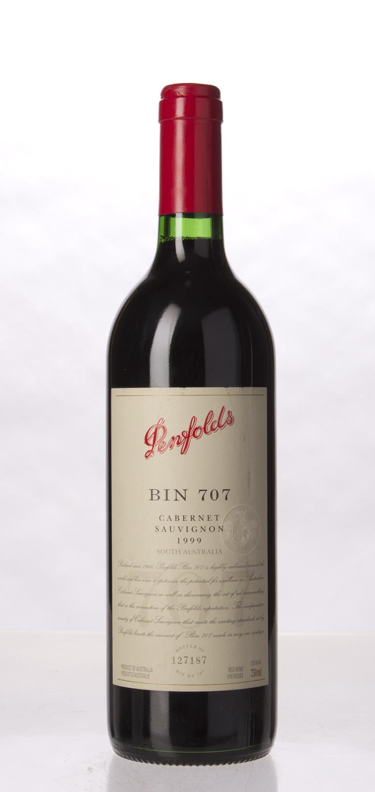 Penfolds Cabernet Sauvignon Bin 707 1999, 750mL (WS91, ST91) from The BPW - Merchants of rare and fine wines.