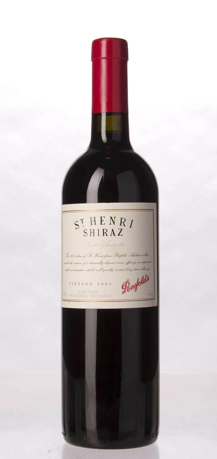 Penfolds Shiraz St. Henri 2001, 750mL (ST91) from The BPW - Merchants of rare and fine wines.