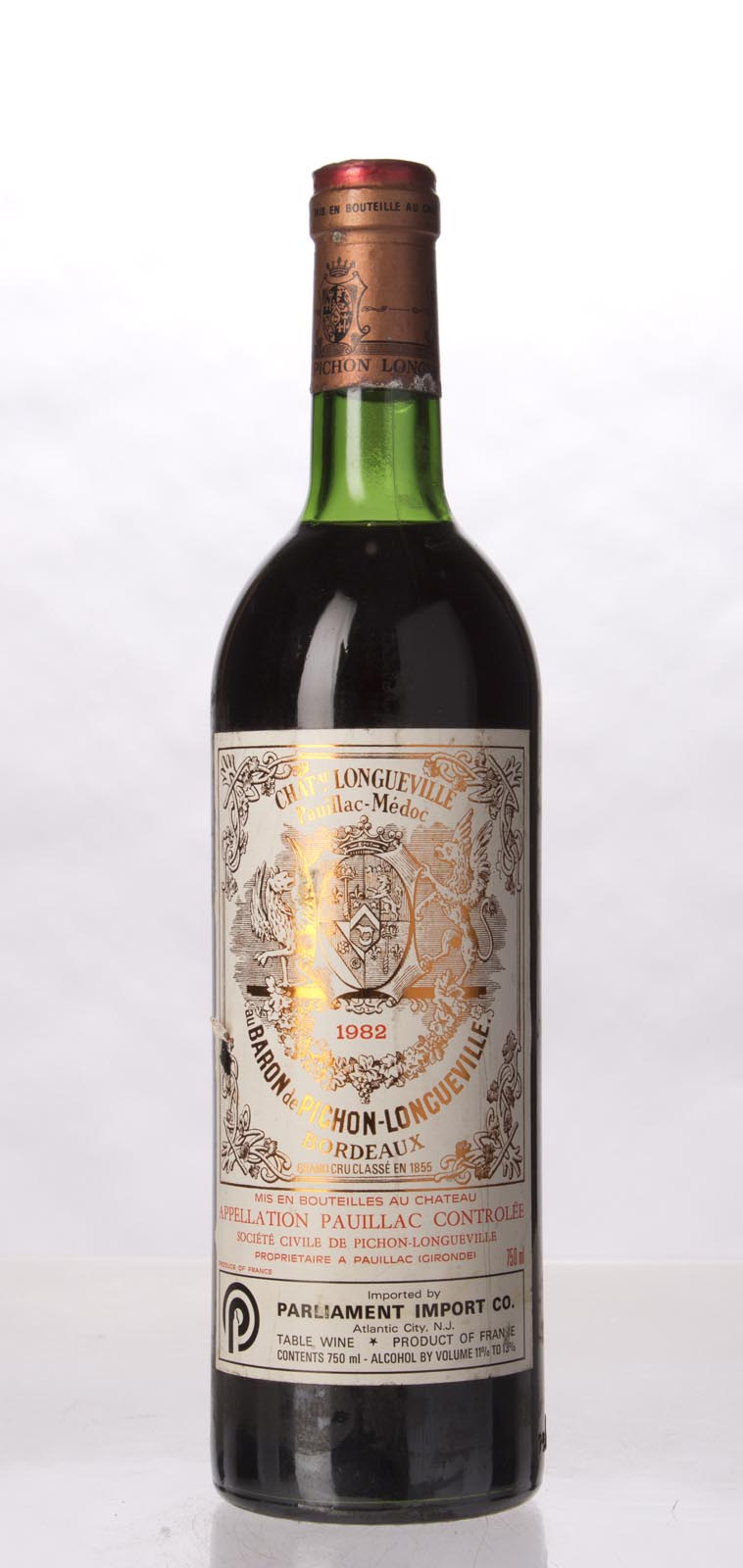 Pichon Longueville Baron 1982, 750mL (WA92, ST92, WS94) from The BPW - Merchants of rare and fine wines.