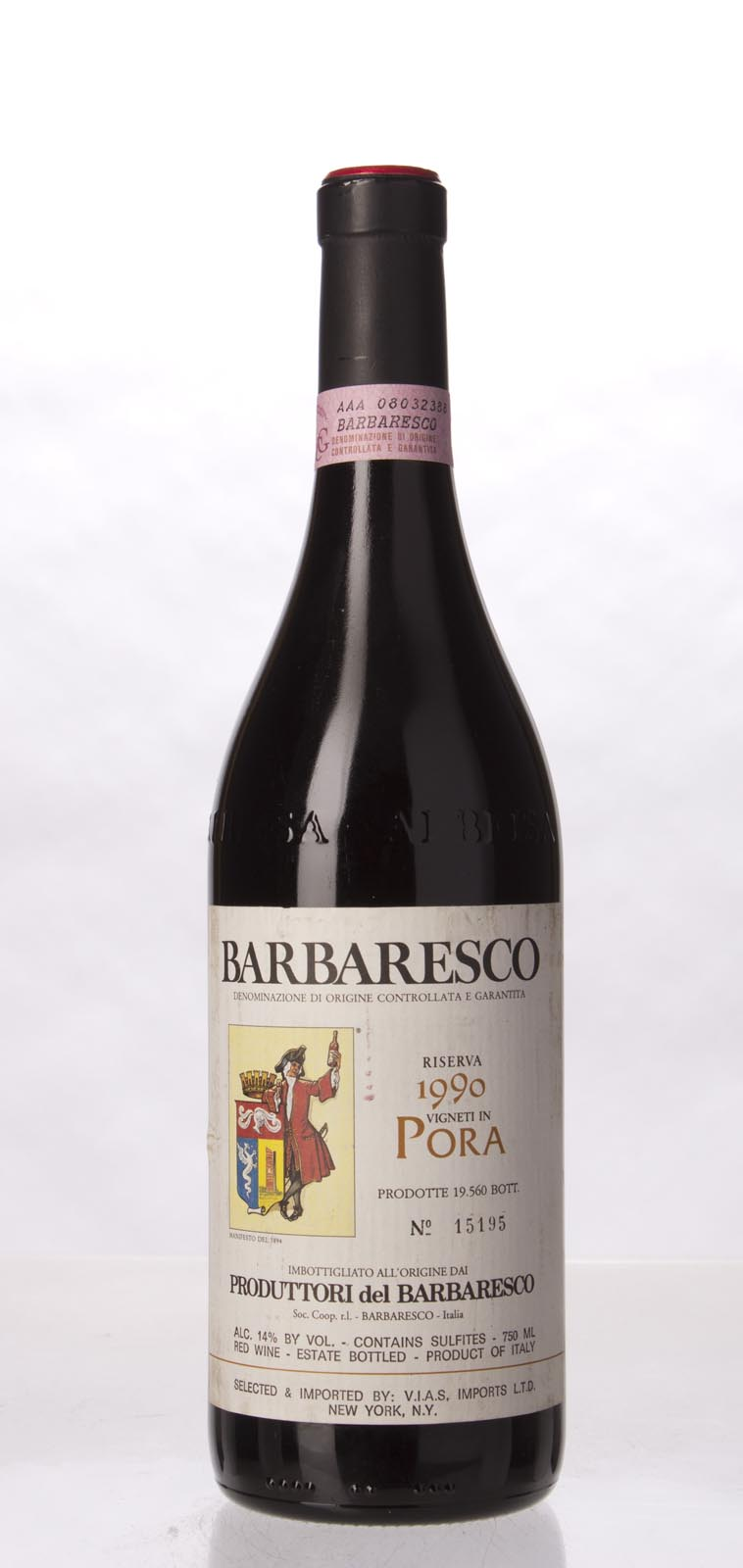 Produttori del Barbaresco Barbaresco Pora Riserva 1990, 750mL (WA92) from The BPW - Merchants of rare and fine wines.