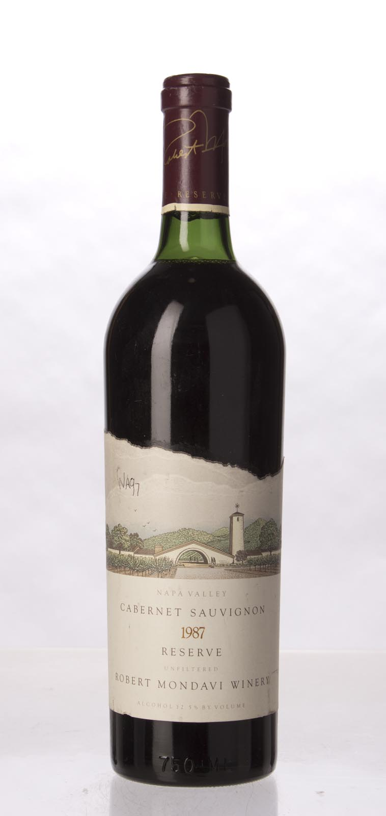 Robert Mondavi Cabernet Sauvignon Reserve 1987, 750mL (WA97) from The BPW - Merchants of rare and fine wines.