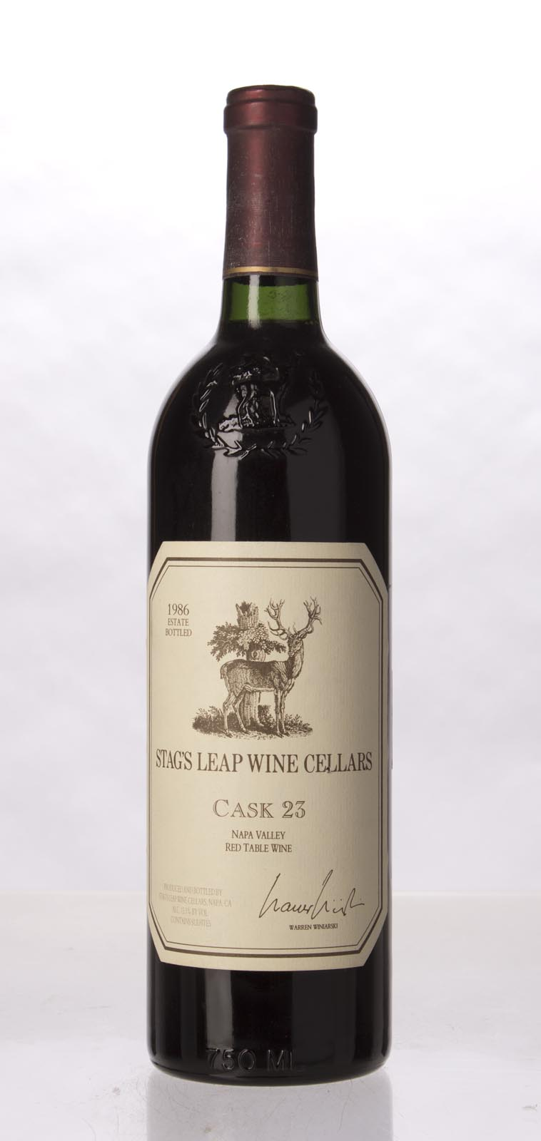 Stag`s Leap Wine Cellars Proprietary Red Cask 23 1986, 750mL (WA92, WS93) from The BPW - Merchants of rare and fine wines.