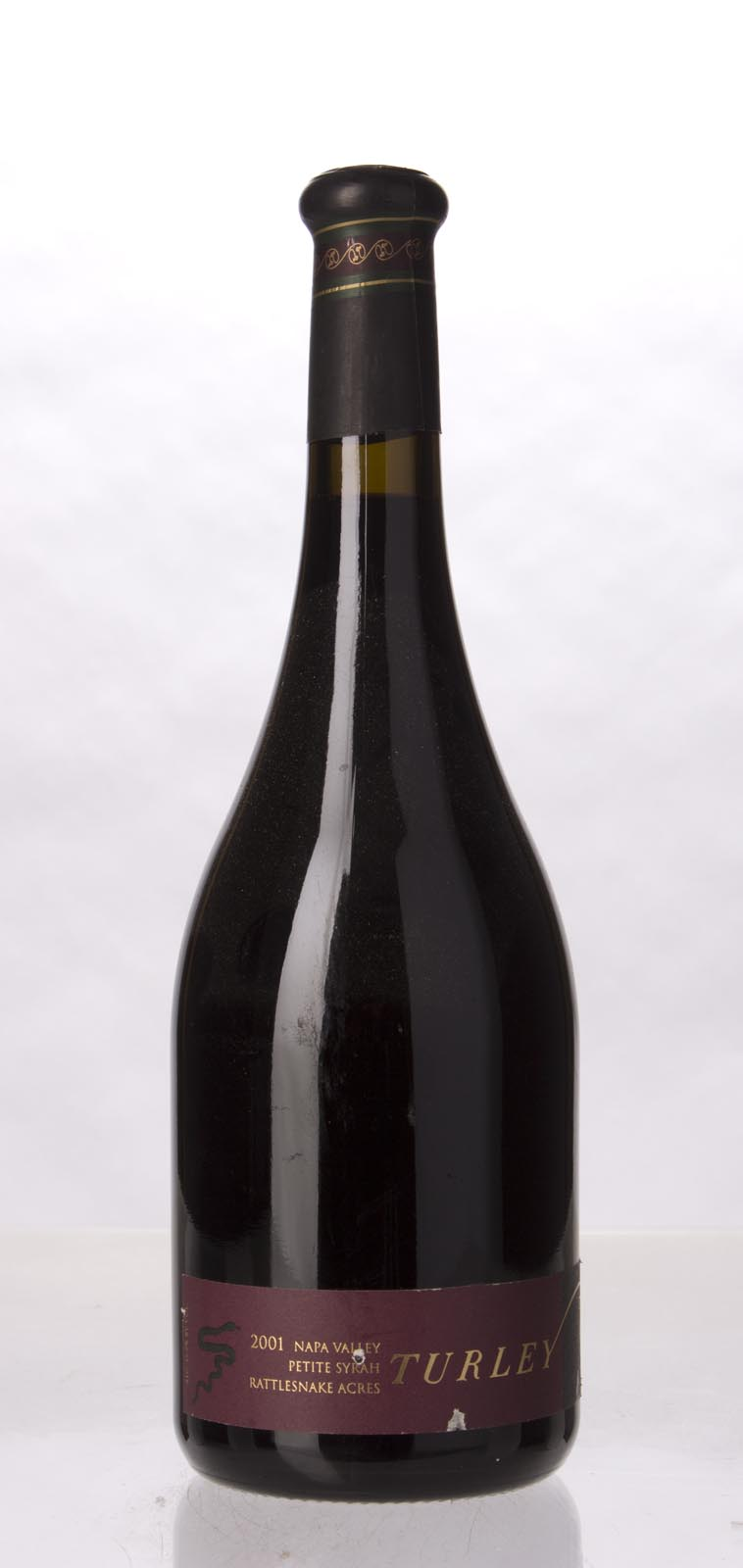 Turley Wine Cellars Petite Sirah Rattlesnake Ridge 2001, 750mL (WA92) from The BPW - Merchants of rare and fine wines.