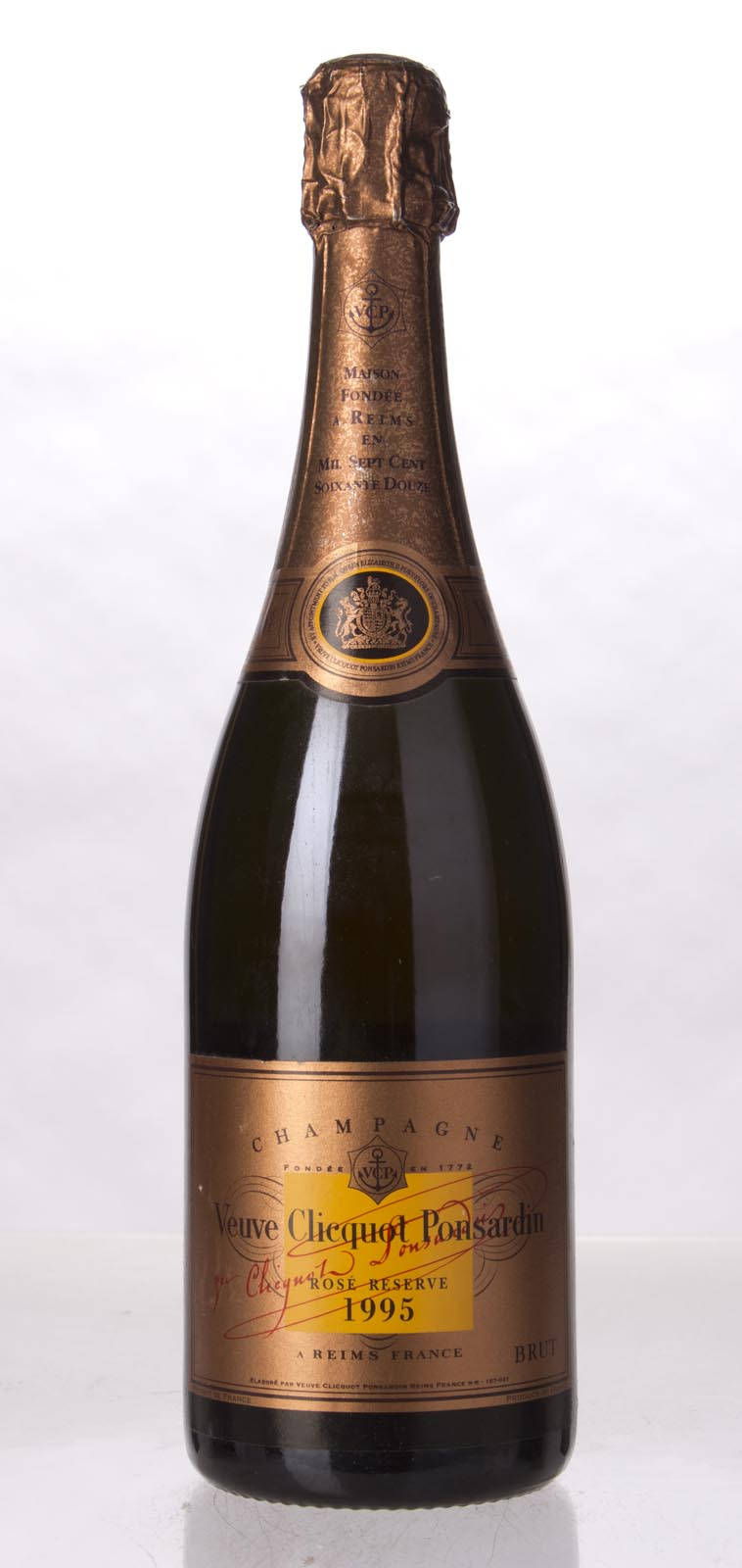 Veuve Clicquot Brut Rose Reserve 1995, 750mL (WS92) from The BPW - Merchants of rare and fine wines.