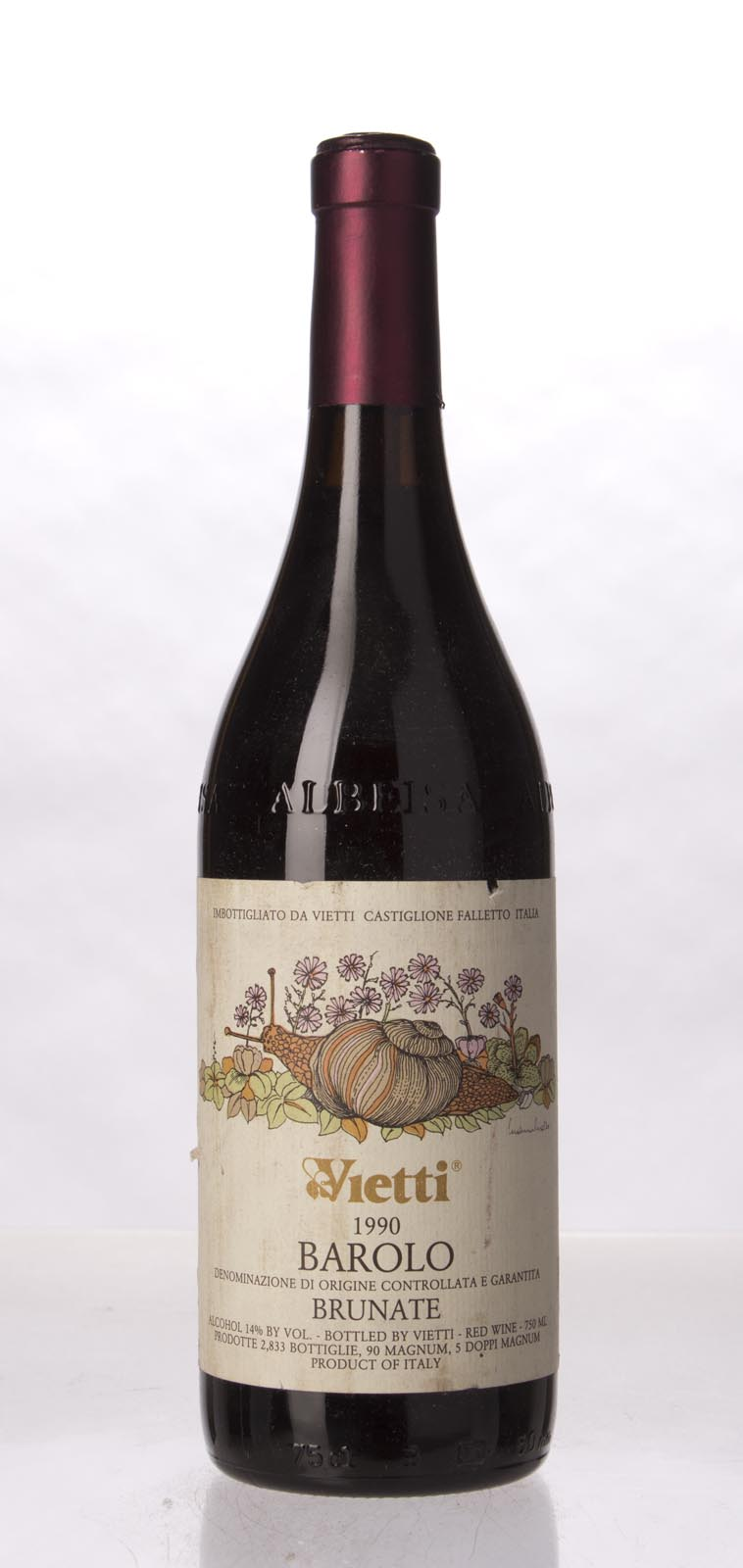 Vietti Barolo Brunate 1990, 750mL (WA91-94) from The BPW - Merchants of rare and fine wines.